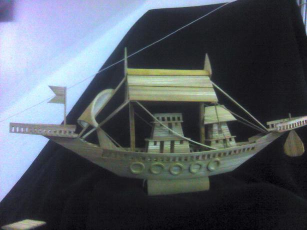A wodeen ship by my friend.